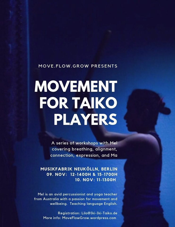 Movement for taiko players